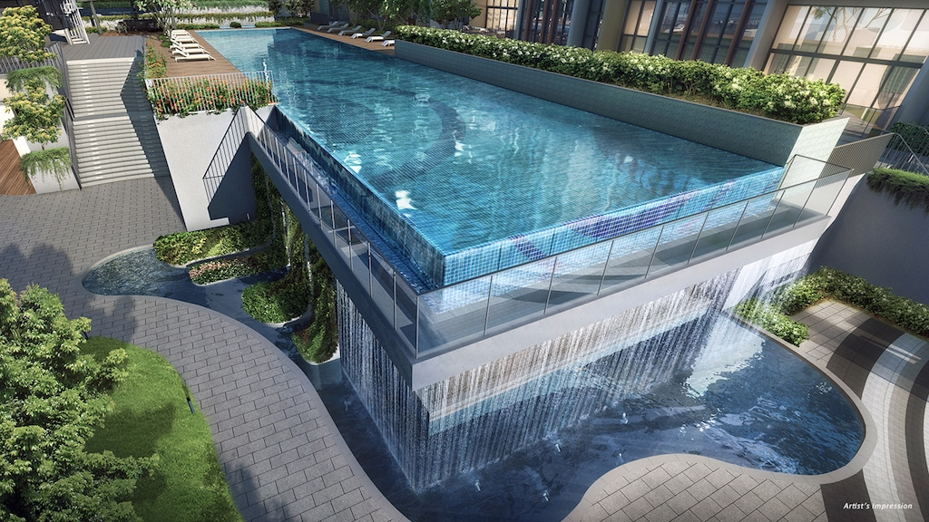The Gazania 50m Lap Pool Water_Wall