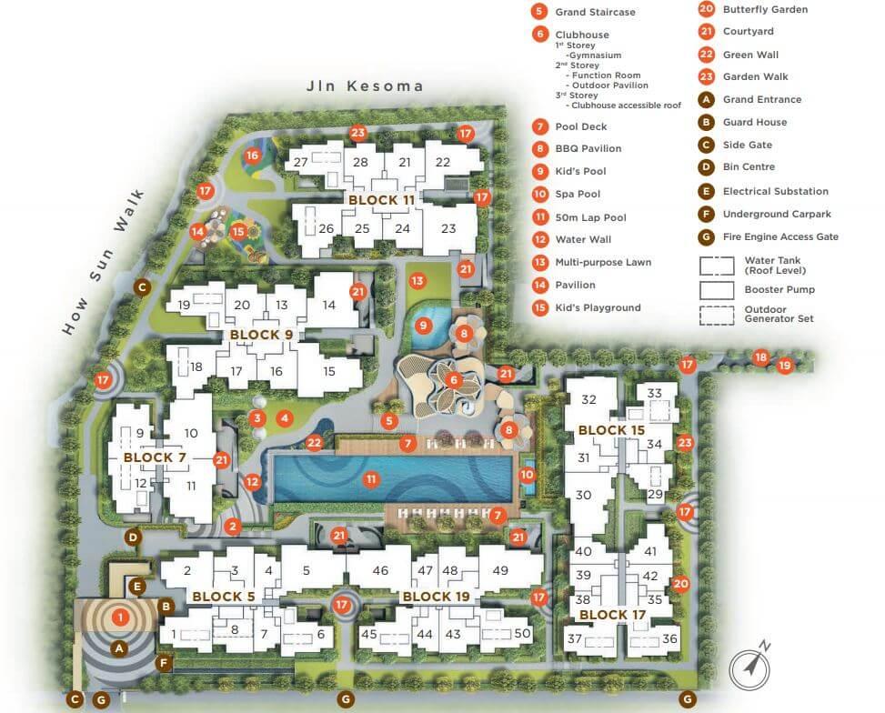 Gazania condo site plan